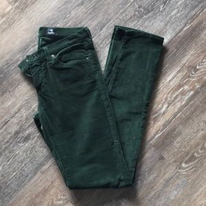 AG Jeans Forest Green Cords Slim-Straight